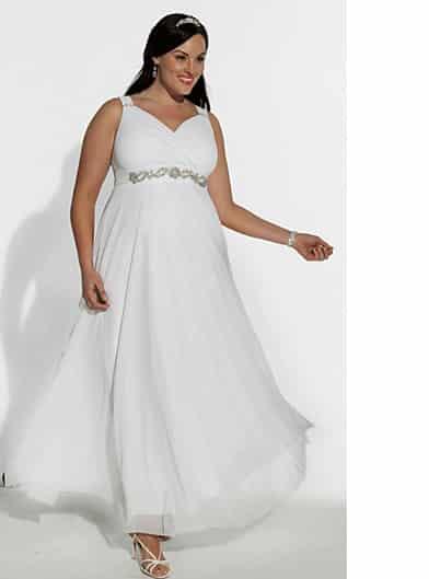 Übergrößen Festliches Abendkleid in Farbe Weiß ID1113 ...