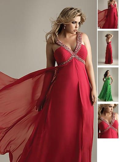 Kleid fur mollige lang