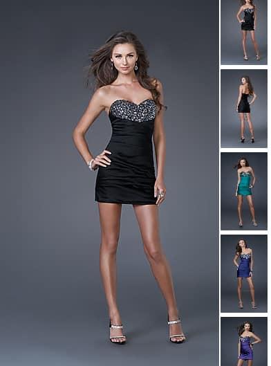 Minikleid Schulterfrei G  Nstig Id1170     Abendkleider   Abendmode